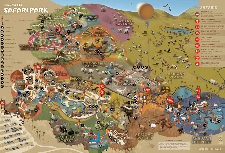 SafariPark_GuideMap_Front_6.2018
